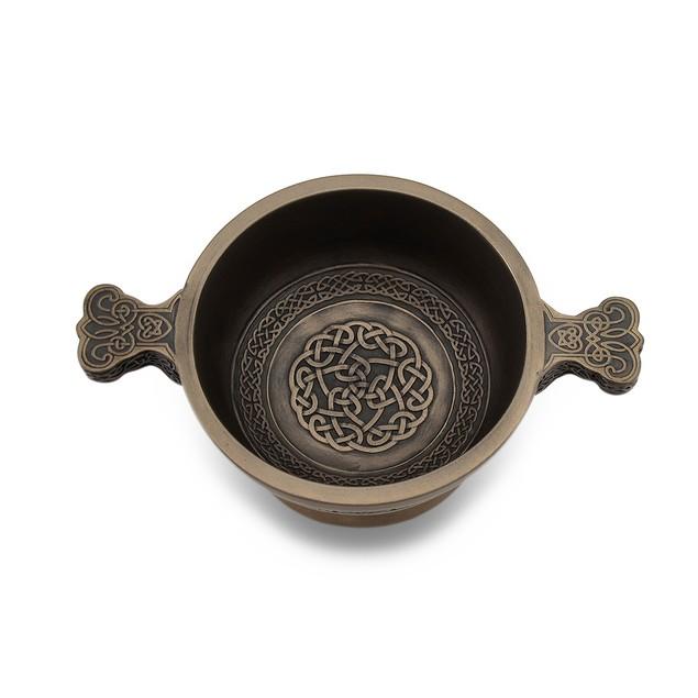 Celtic Knotwork Pattern Bronze Finished Two Decorative Bowls
