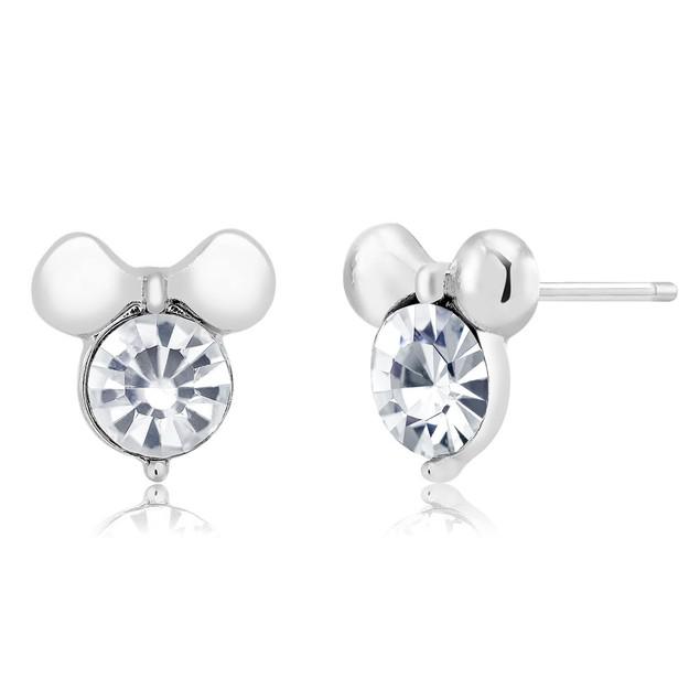 Bow Cubic Zirconia Stud Earrings