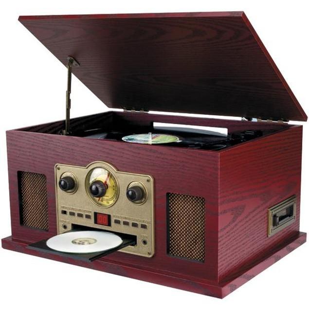 Sylvania(r) Srcd838 Nostalgia 5-In-1 Turntable/cd/radio/cassette Player