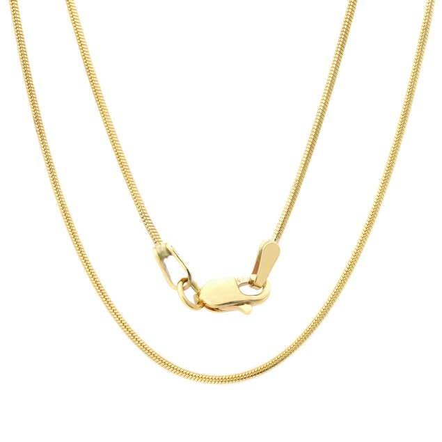 Gold Snake Chain Crafted from 10K Yellow Gold