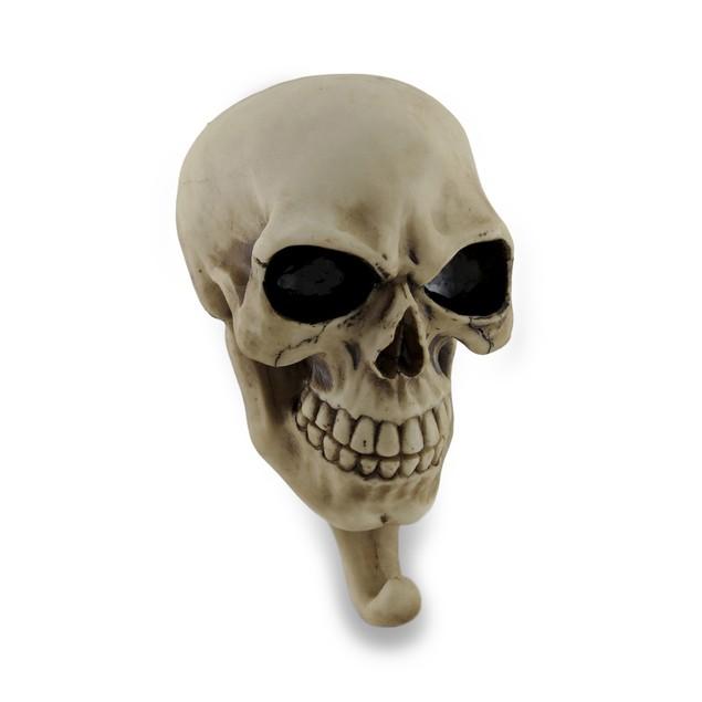 Creepy Sculptural Skull Wall Hook Decorative Wall Hooks