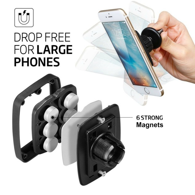 Encust Universal Extra Strong Air Vent Magnetic Car Mount Phone Holder