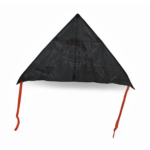 Jolly Roger Black, White, Red Pirate Delta Kite 55 Kites