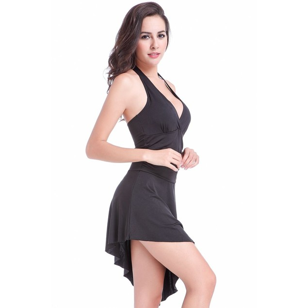 Convertible Black One-Piece Swimsuit