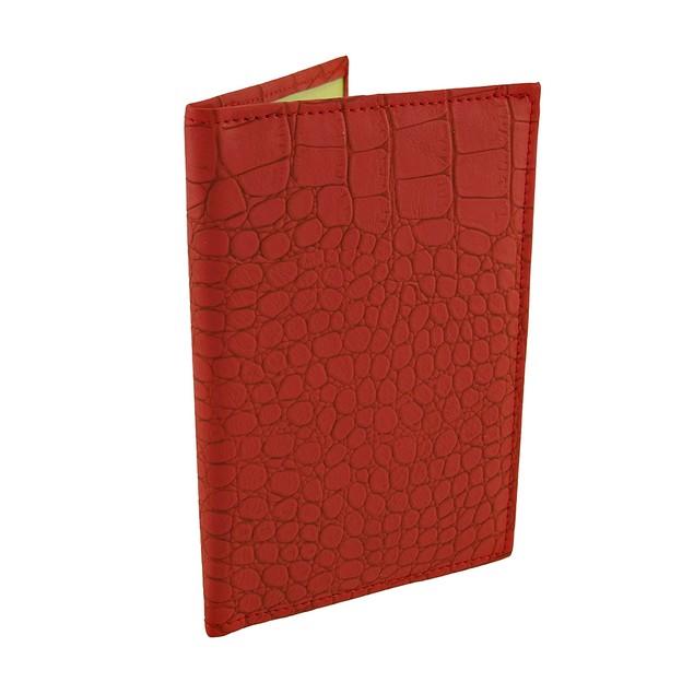 Red Mock Croc Textured Vinyl Passport Cover Passport Holders