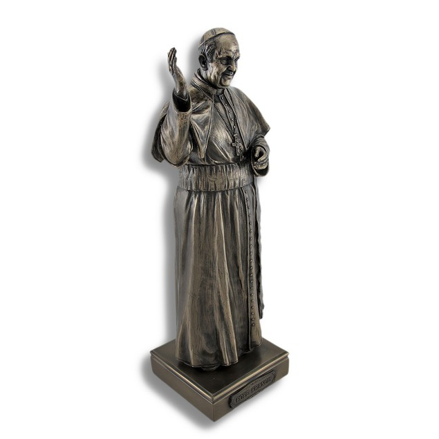Bronzed Pope Francis Bishop Of Rome Statue Statues