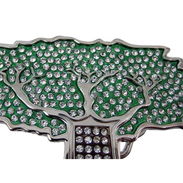 Rhinestone Encrusted Tree Of Life Belt Buckle Mens Belt Buckles
