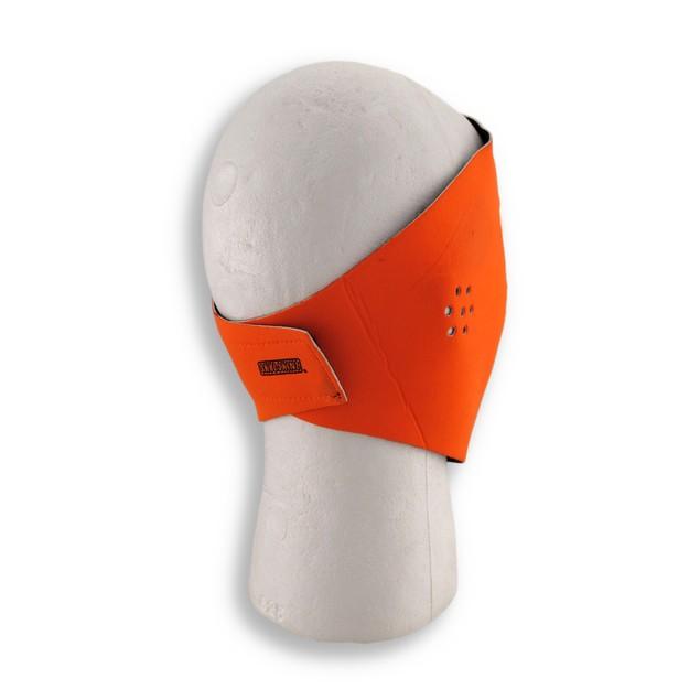 Bright Orange Neoprene Motorcycle Face Mask Powersports Protective Face