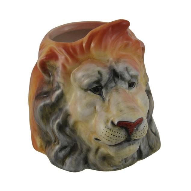 Set Of 4 Decorative Animal Head Molded Ceramic Mug Sets