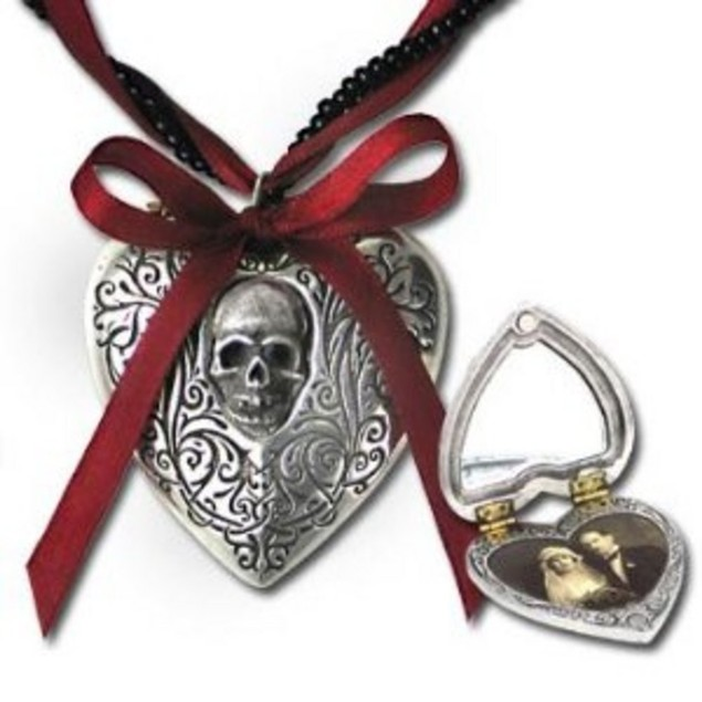 Alchemy Gothic Reliquary Heart Locket Pendant W/ Womens Pendant Necklaces