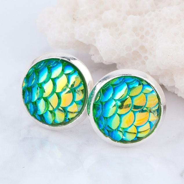 Mermaid Skin Stud Earrings - Choose Color