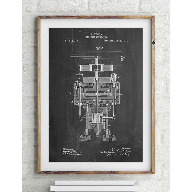 Tesla Electric Generator Poster