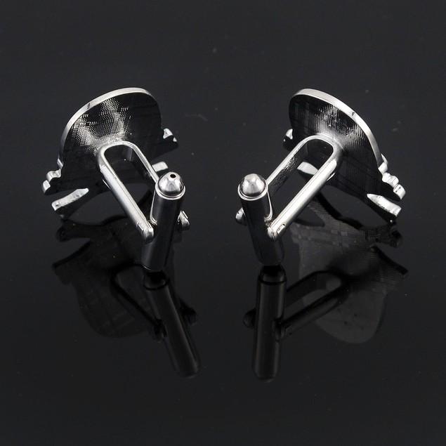 Stainless Steel Skull & Crossbones Cuff Links Mens Cuff Links
