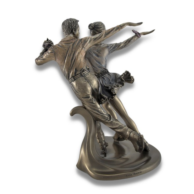 Figure Skating Pair Ice Dancer Couple Bronzed Statues