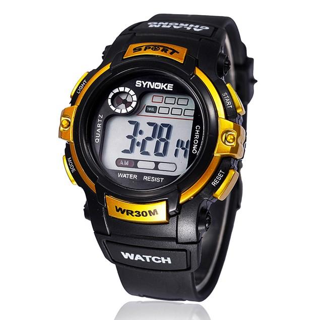 Kids Digital LED Quartz Sports Waterproof Wristwatch