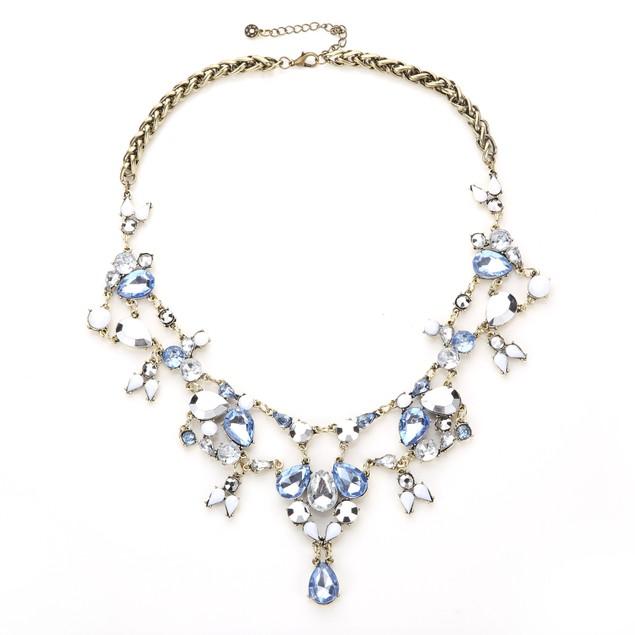 Iconic Chandelier Ocean Blue Majesty Statement Necklace