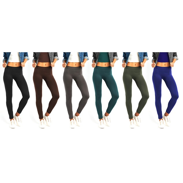 6-Pack: Women's High Rise Leggings