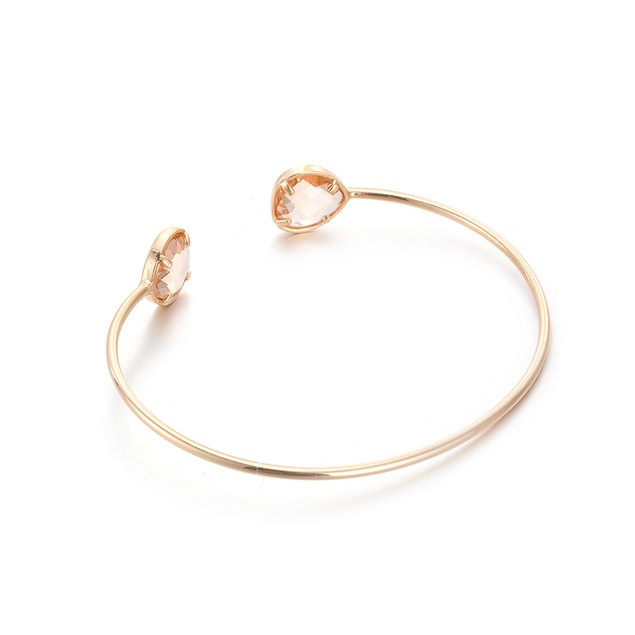 Gold Plated Duo-Orange Citrine Open Ended Bangle