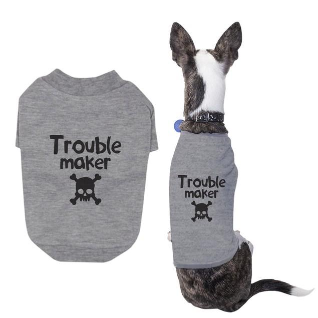Small Dog Trouble Maker Dog Shirt