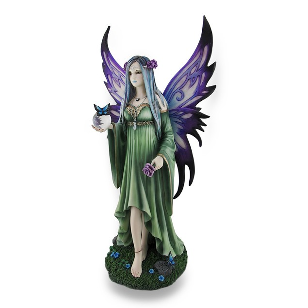 Large Anne Stokes `Mystic Aura` Fantasy Fairy Statues