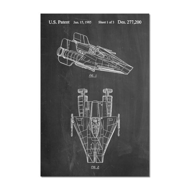 Star Wars RZ-1 A Wing Starfighter Patent Print