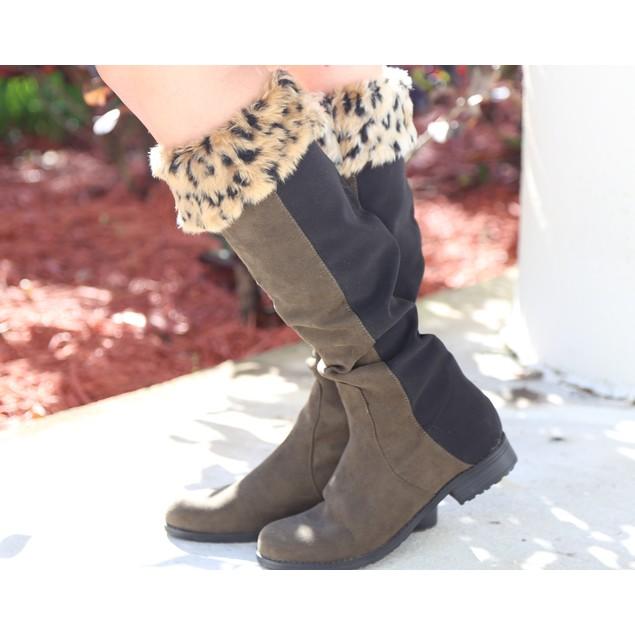Fur Top Socks