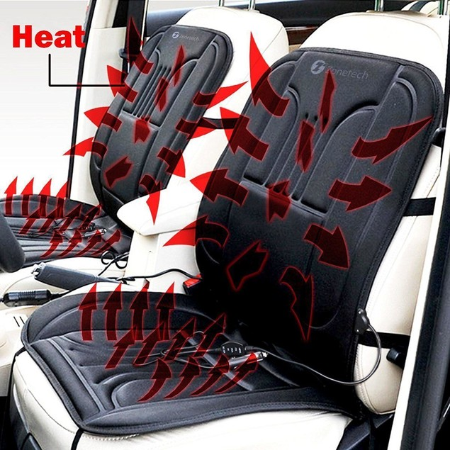 Zone Tech 2x Thickening Heated Car Seat Heater Heated Cushion Warmer