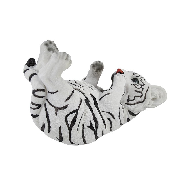 White Bengal Tiger Cub Tabletop Single Wine Bottle Tabletop Wine Racks
