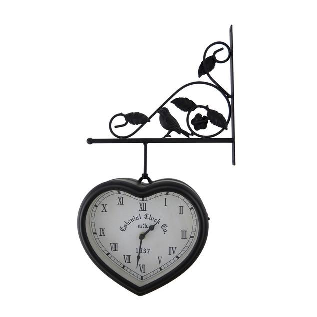 Double Sided Hanging Heart Shaped Clock Wall Clocks
