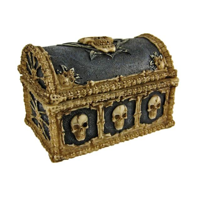 Cool Skull  Bones Ossuary Trinket Box Jewelry Decorative Boxes
