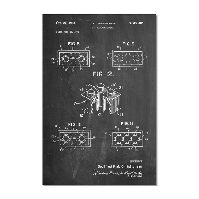 Lego Building Brick Patent Poster