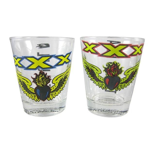 Licensed Set Of 4 Xxx Tequila Aztec Shot Glasses Shot Glasses