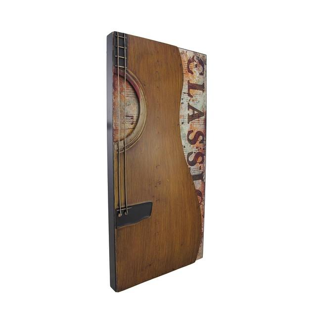 Classic Metal Acoustic Guitar Wall Hanging Decorative Plaques