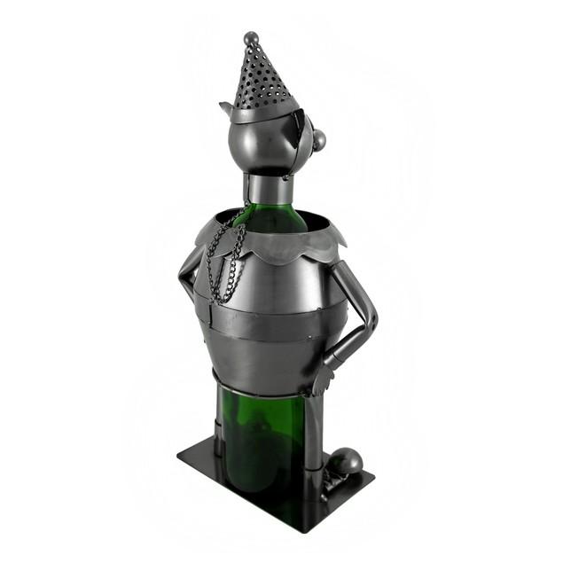 Funny Clown Metal Sculpture Wine Bottle Display Tabletop Wine Racks