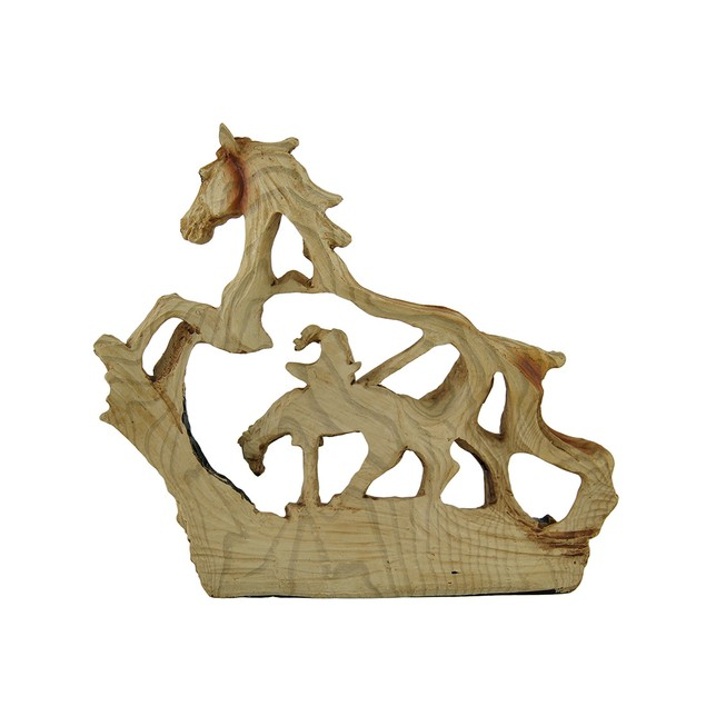 Trail's End Decorative Faux Carved Wood Look Statues