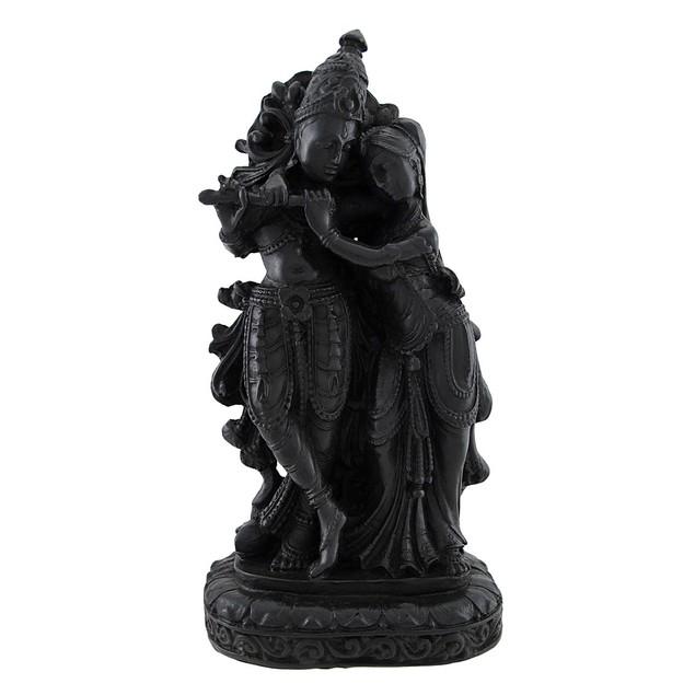 Radha Krishna Stunning Ebony Look Statue Hindu Art Statues