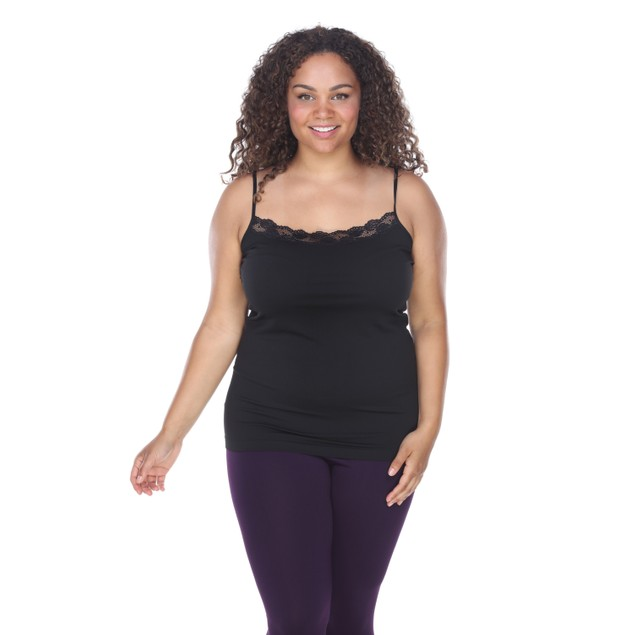 Plus Size Lace Trim Tank Top - 8 Colors