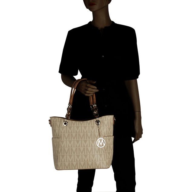 MKF Collection Kissaten Milan M Signature Tote by Mia K. Farrow