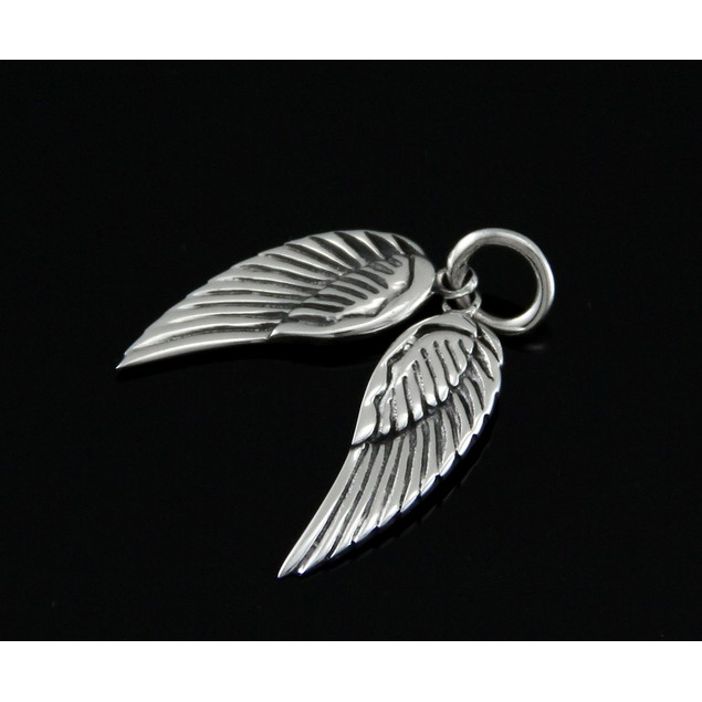 Sterling Silver Dangling Angel Wings Pendant / Pendants