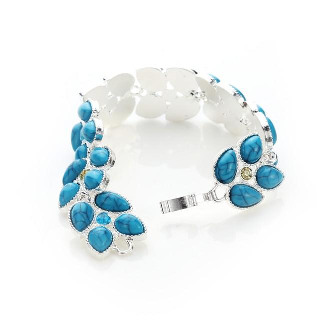 Dreamy Leaves Turquoise Citrine Bracelet