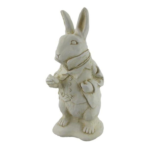 Alice In Wonderland White Rabbit Garden Statue Outdoor Statues
