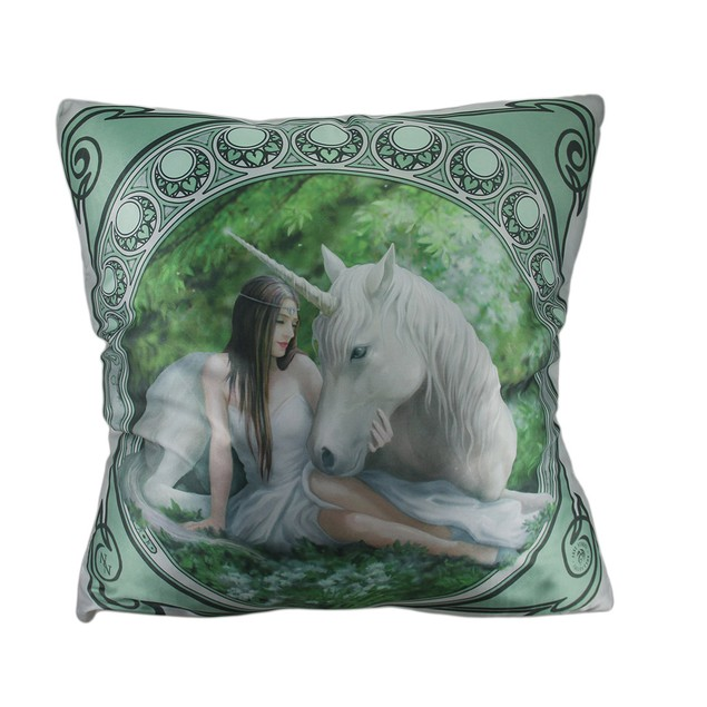Anne Stokes Pure Heart Fantasy Unicorn Throw Throw Pillows