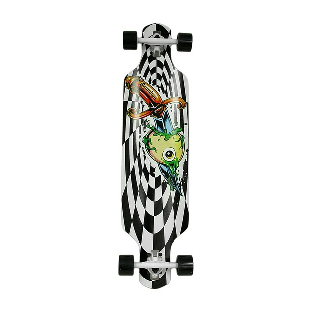 40 In. Drop Through 8 Ply Complete Longboard Longboard Skateboards