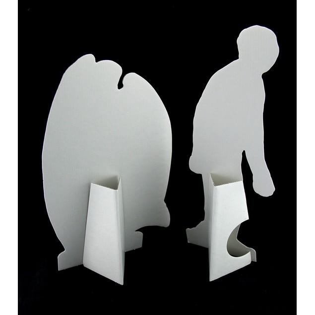 Set Of 2 Black & White Edward Gorey Vampire And Statues