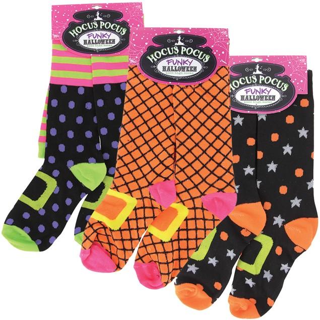 3-Pack Hocus Pocus Funky Knee High Socks