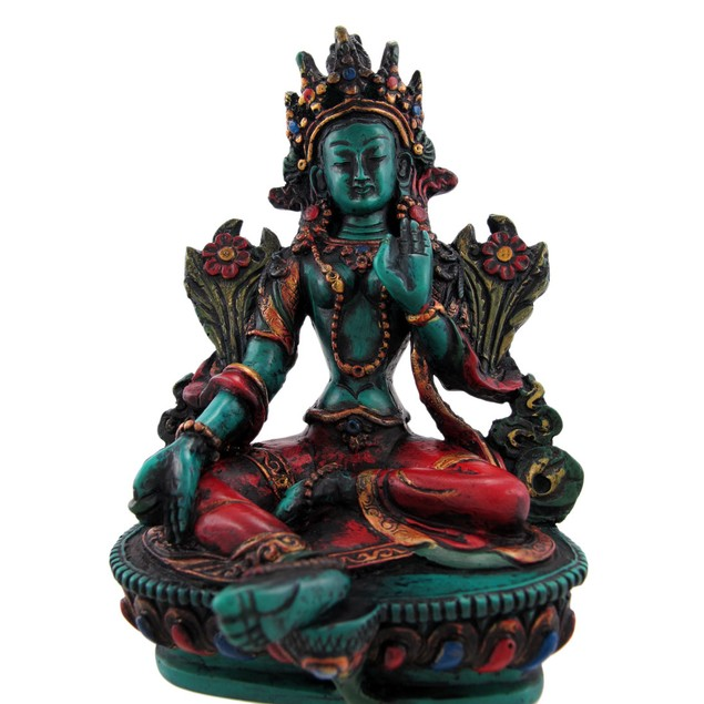 Buddhist Green Tara Resin Statue Mother Goddess Statues
