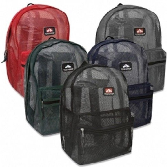 "Mesh ""See Through"" Trailmaker Backpack"