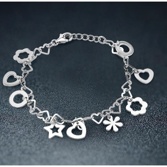 Sterling Silver Summer Charm Bracelet