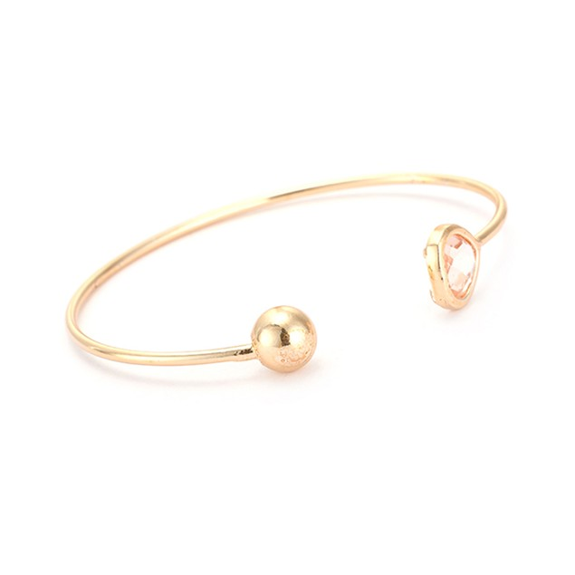 Gold Plated Open Coral Gem Bangle