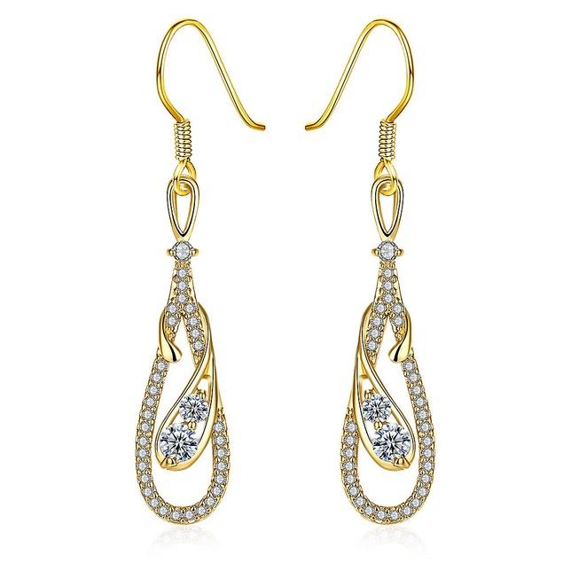 Gold Zig Zag Inspired Earrings
